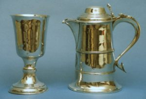 All Saints, Calverton – Church Plate – Flagon and Chalice
