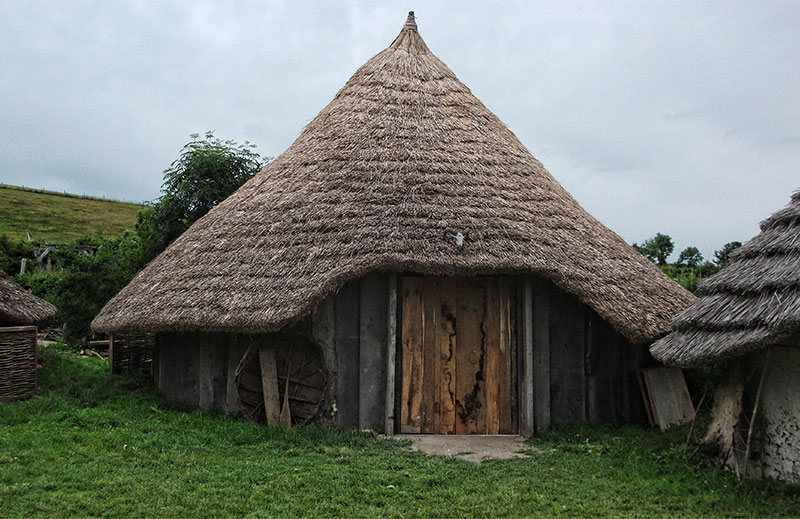 Reconstruction of an early Iron Age roundhouse