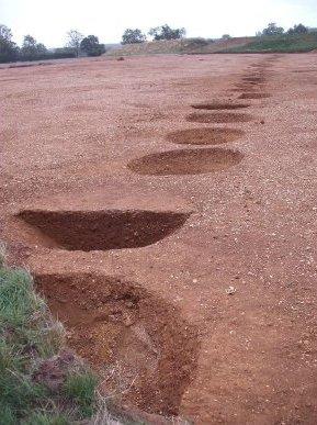 Bronze Age pit alignment