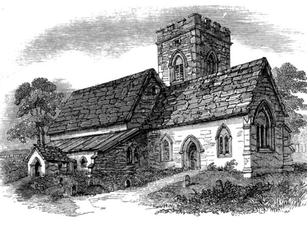 The Old Church - Woodcut