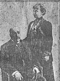 Squire Edward Watts and his wife Edith (c. 1910)