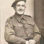 Villager J G Stimpson shortly before leaving for France