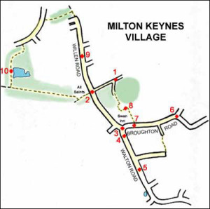 Milton Keynes- Village trail map