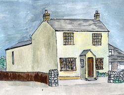 Sketch of Yew Tree Cottage (2006)