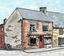 Sketch of The Star pub? (2006) then 'Dreams' shop