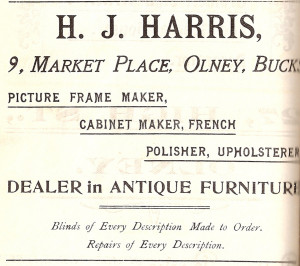 M J Harris Ad 1907