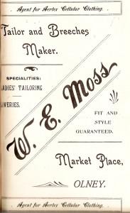 W E Moss Ad 1907