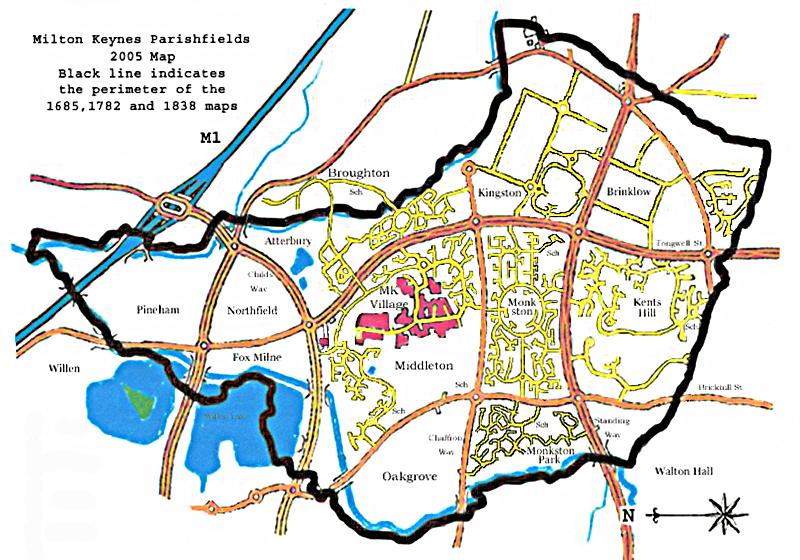 Milton Keynes Estate Maps through the ages Two Villages Archive Trust