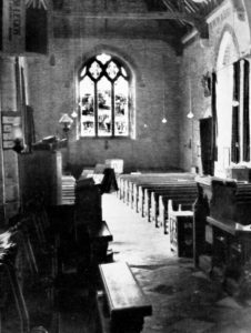 All Saints interior looking west c 1948