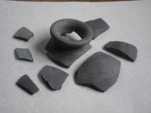 Fragments of Roman pot found during preparations for North Porch extension 2009