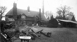 Bird's Cottage & yard pre 1900