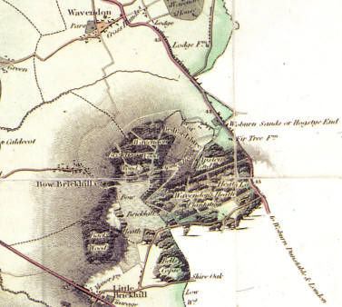 1825 Map of Woburn Sands