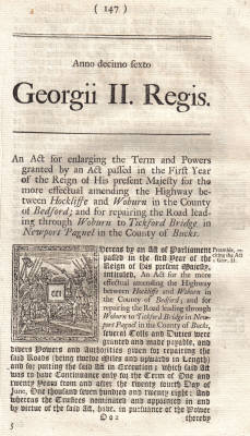 1742 Toll Road Act