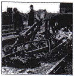 Fenny Stratford disaster wreckage