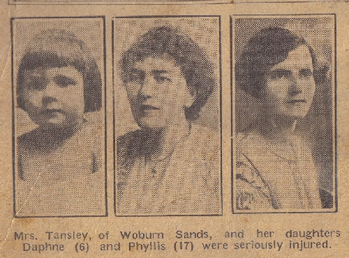 Injured in 1925 crash at Fenny Stratford