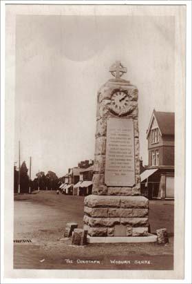 Woburn Sands - Where the Memorial originally stood