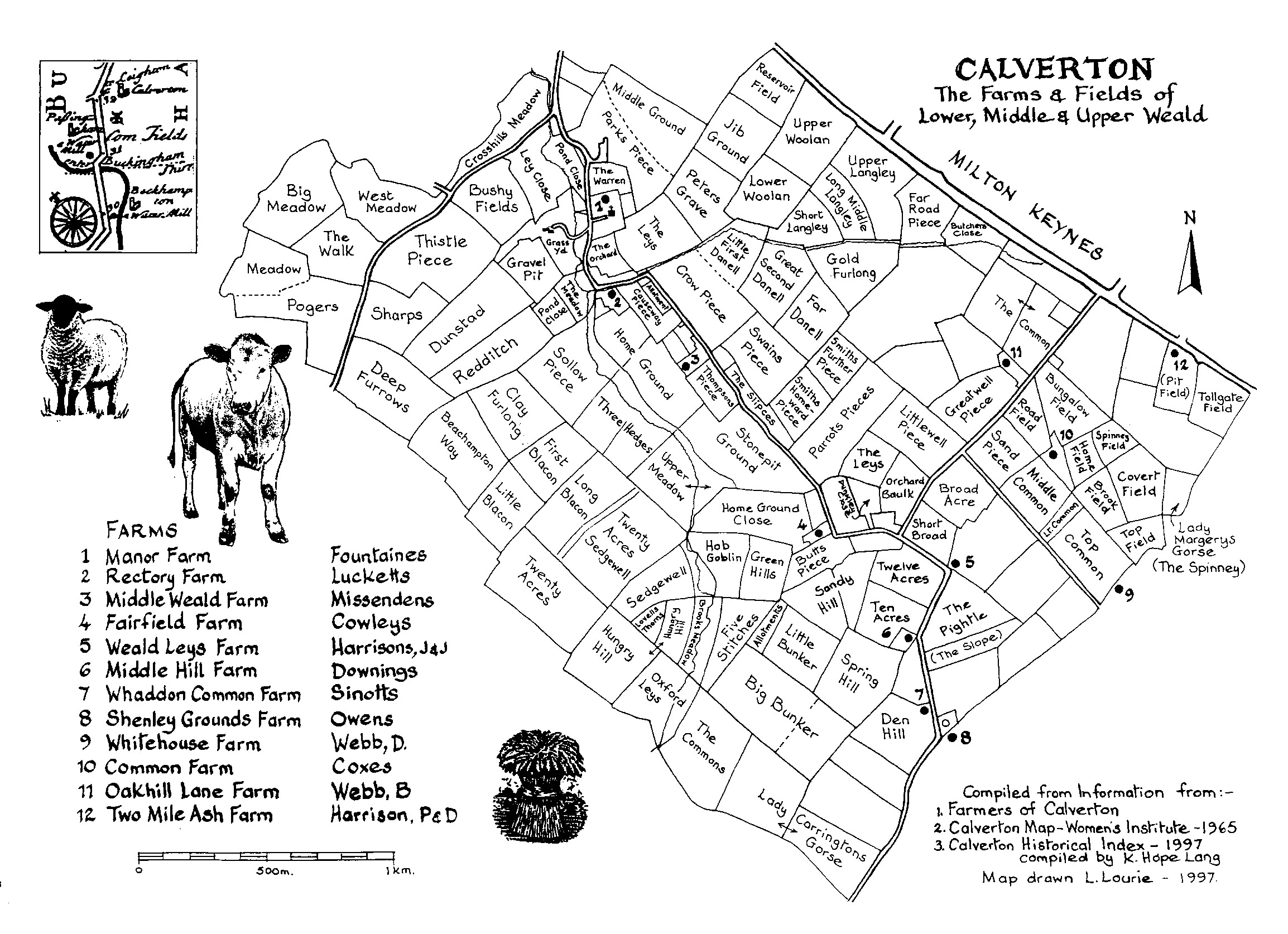 Calverton Field Names