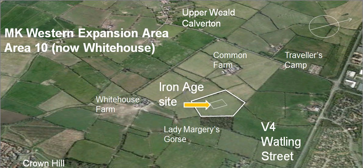 Iron Age site location map