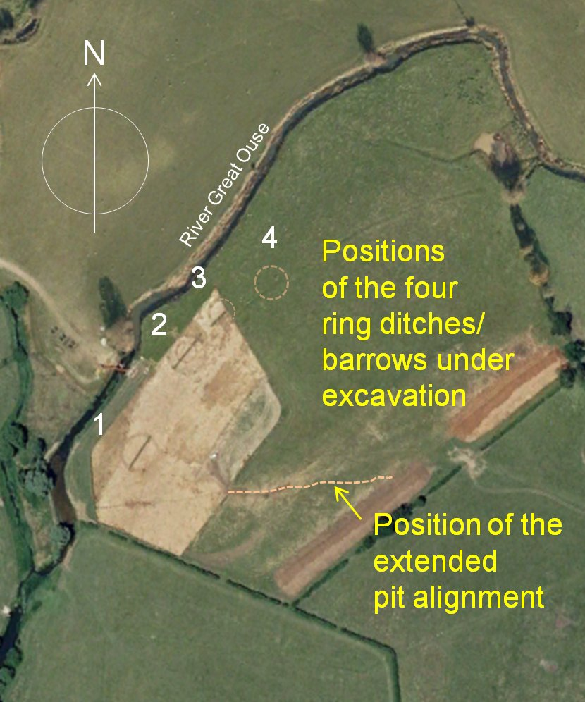 Excavation of Bronze Age ring ditches.