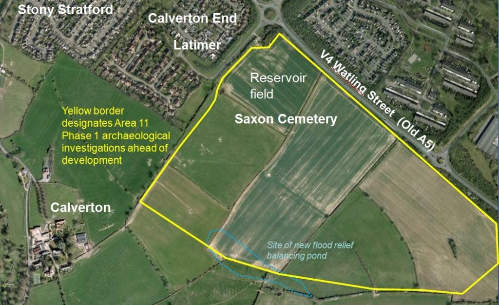 Saxon cemetery - site location
