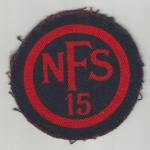 Auxillary Fire Service Arm patch,worn by Hanslope villager Tony Belham