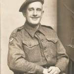 Villager J G Stimpson shortly before leaving for France