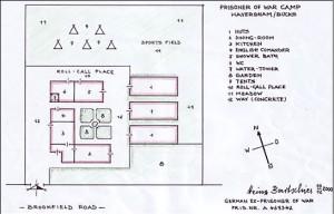 Plan of the Haversham POW Camp (Att. Heinz Collin, ex German POW)