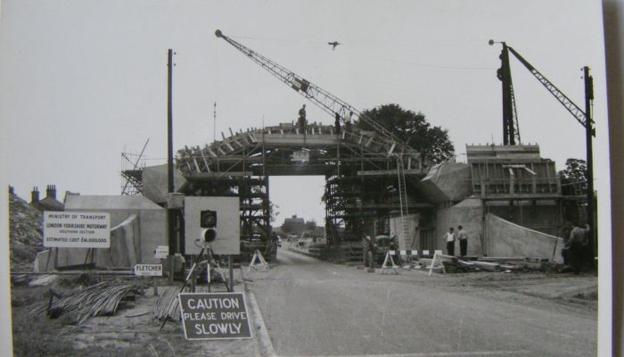 The building of an M1 bridge at Newport Pagnell