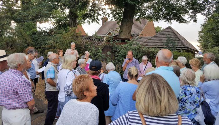 Attendees at a Newport Pagnell walk led by Don Hurst