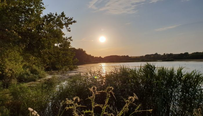Sunset over Linford Lakes