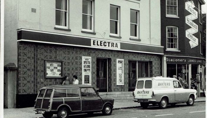 Fronts of The Electra Cinema and Bucks Standard office