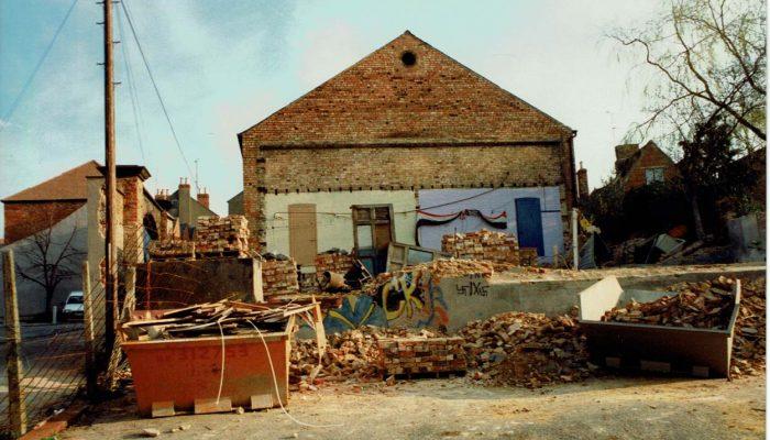 Rear demolition of The Electra Cinema