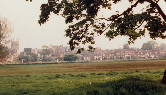 Newport Pagnell town from Water Meadow