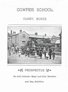 Cowper School Prospectus Cover mid 1890s