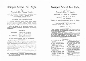 Cowper School prospectus mid 1890s ph