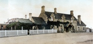 Early photograph of Olney Station