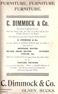 C Dimmock Ad 1907