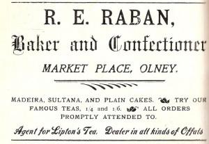 R E Raban Ad 1907