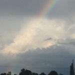 Church + rainbow