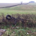 Just tyres - fly tipping