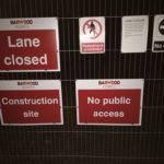 Permissive lane closed during development