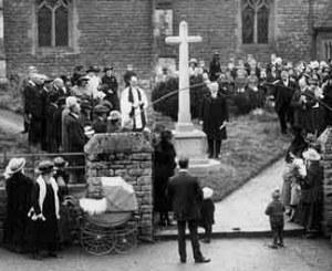 Memorial service at Yardley gobion War Memorial