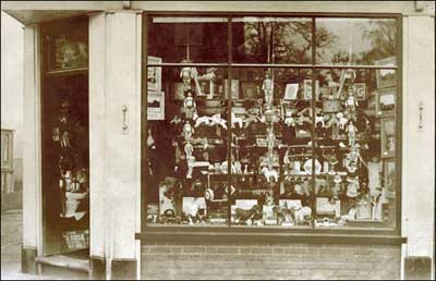 All that crestware in the window....