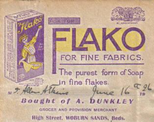 Advert on a bilhead, 1926