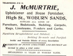 Advert from the 1908 directoy