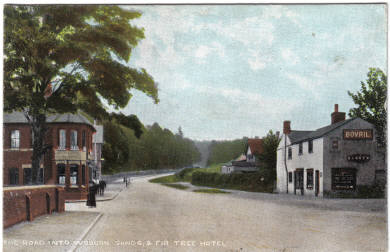 A hand tinted view of Woburn Road