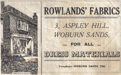 Rolands fabrics, Woburn Sands