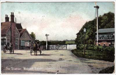 Woburn Sands Station postcard