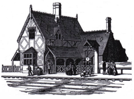 Woburn Sands Station in 1852