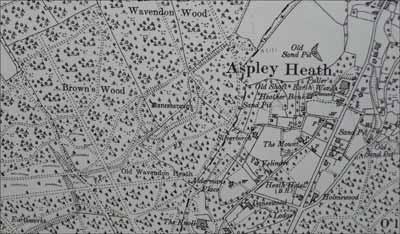 Location of Danesborough Camp